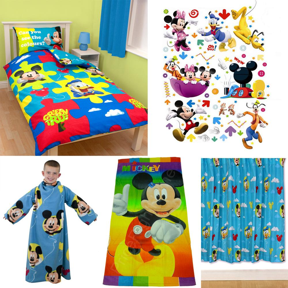 bettwaesche disney mickey mouse kinderzimmer accessoires. Black Bedroom Furniture Sets. Home Design Ideas