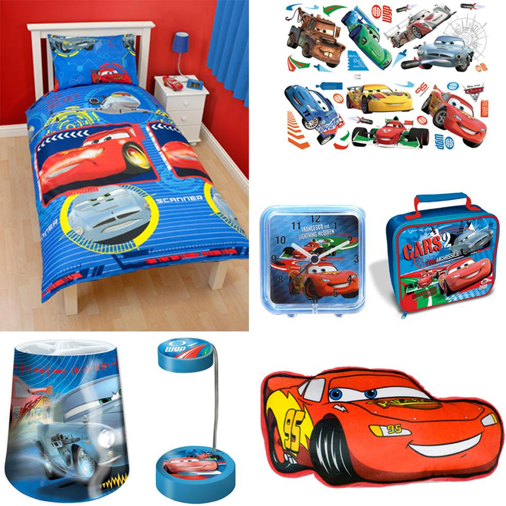 DISNEY CARS BEDROOM ACCESSORIES BEDDING, STICKERS, LIGHTING ...