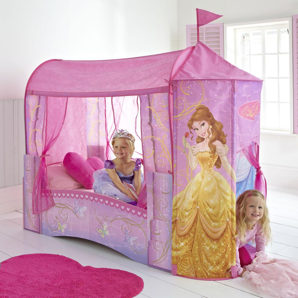 Disney princess feature castle toddler bed mattress new official ebay for Chambre princesse disney