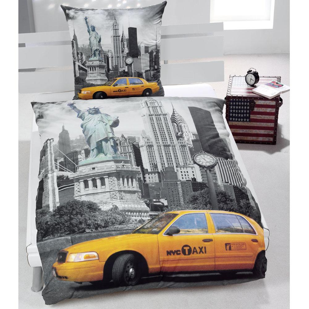 Brand new sealed et - Housse de couette taxi jaune new york ...