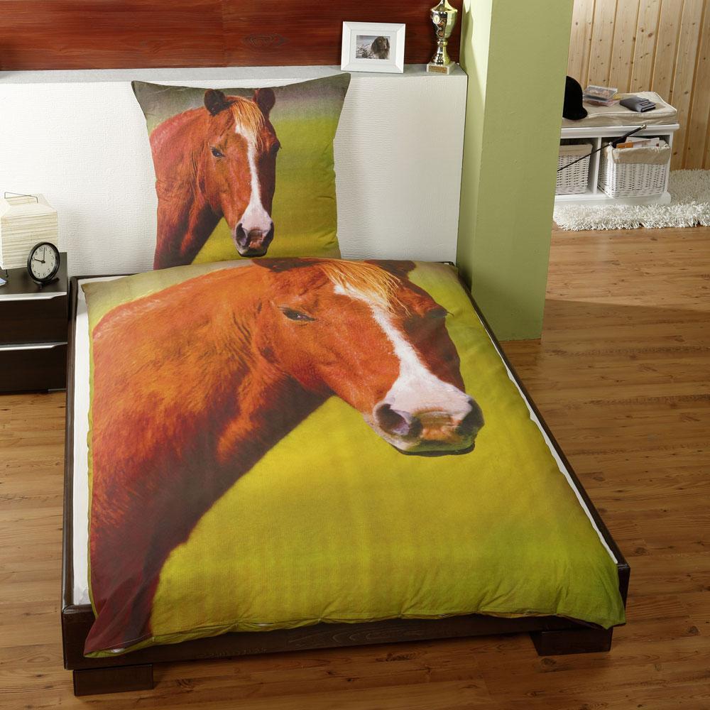 Literie pour fille housse de couette lit simple motifs - Housse de couette motif cheval ...