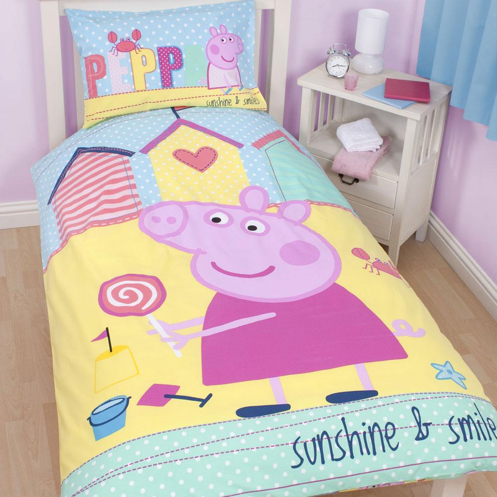Peppa pig bedding bedroom decor duvets wall stickers for Room decor stuff