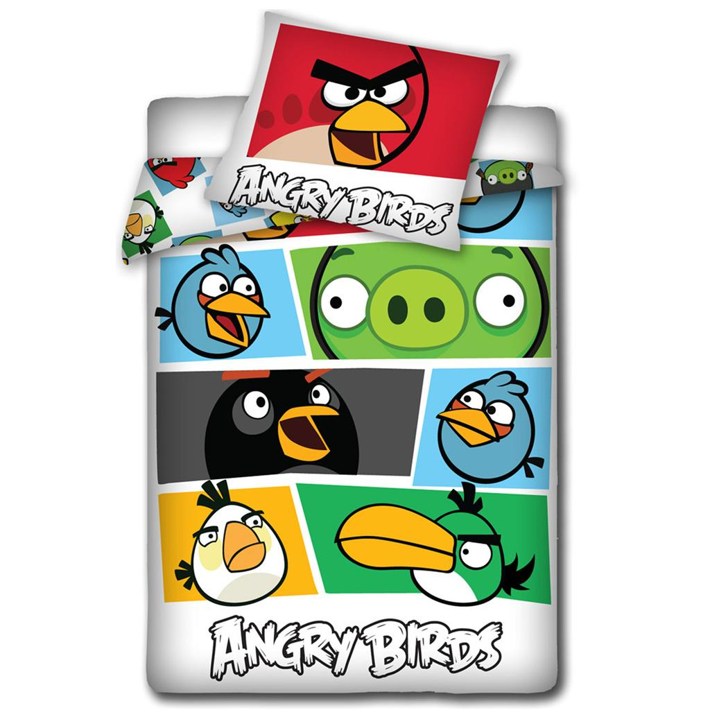 angry birds housse couette r 233 versible 2 en 1