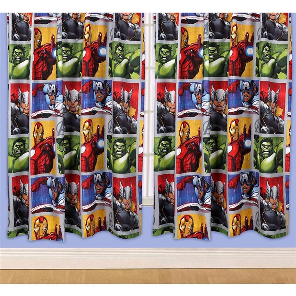 Marvel avengers 66 x 72 curtains official iron man hulk captain america thor ebay - Captain america curtains ...
