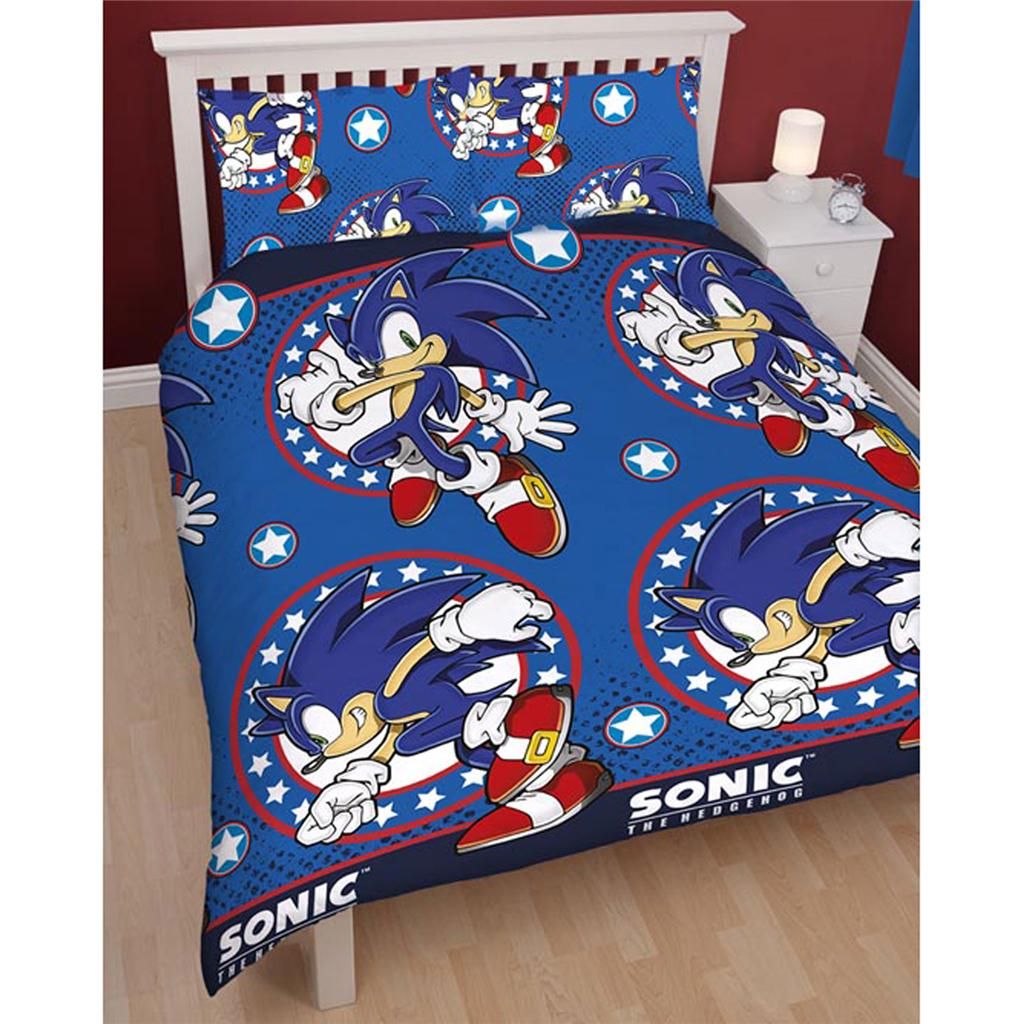 Sonic Bedroom Decor Double Character Duvet Covers Bedding 100 Official Free