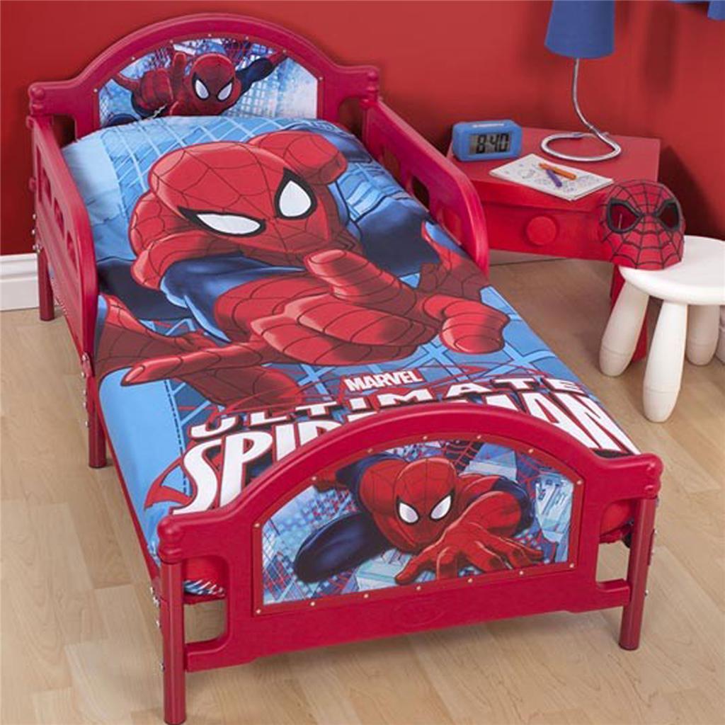 SPIDER MAN CITY JUNIOR COT BED DUVET COVER 100% OFFICIAL SPIDERMAN