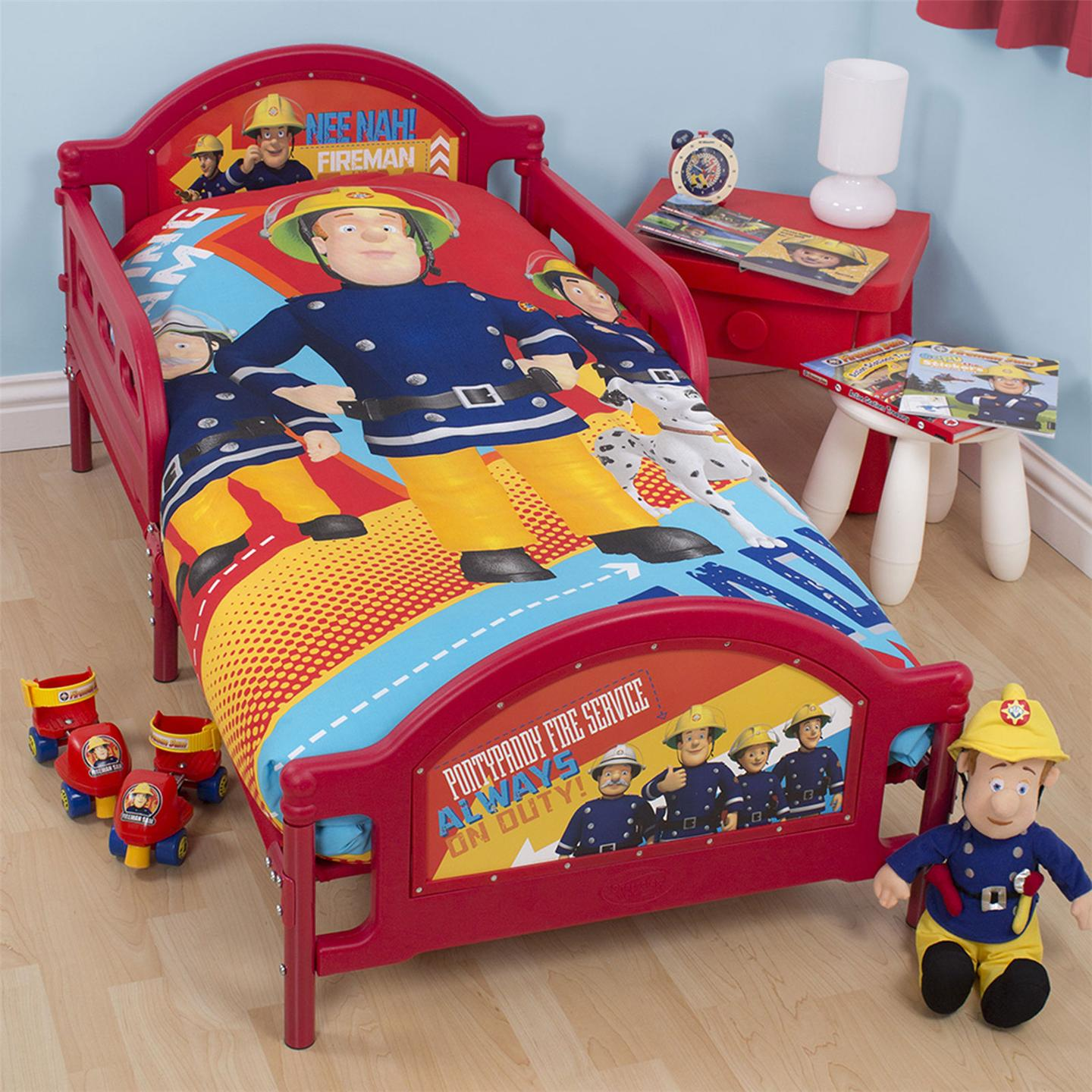 FIREMAN SAM ALARM JUNIOR COT BED DUVET COVER BEDDING SET 4 IN 1 BUNDLE NEW