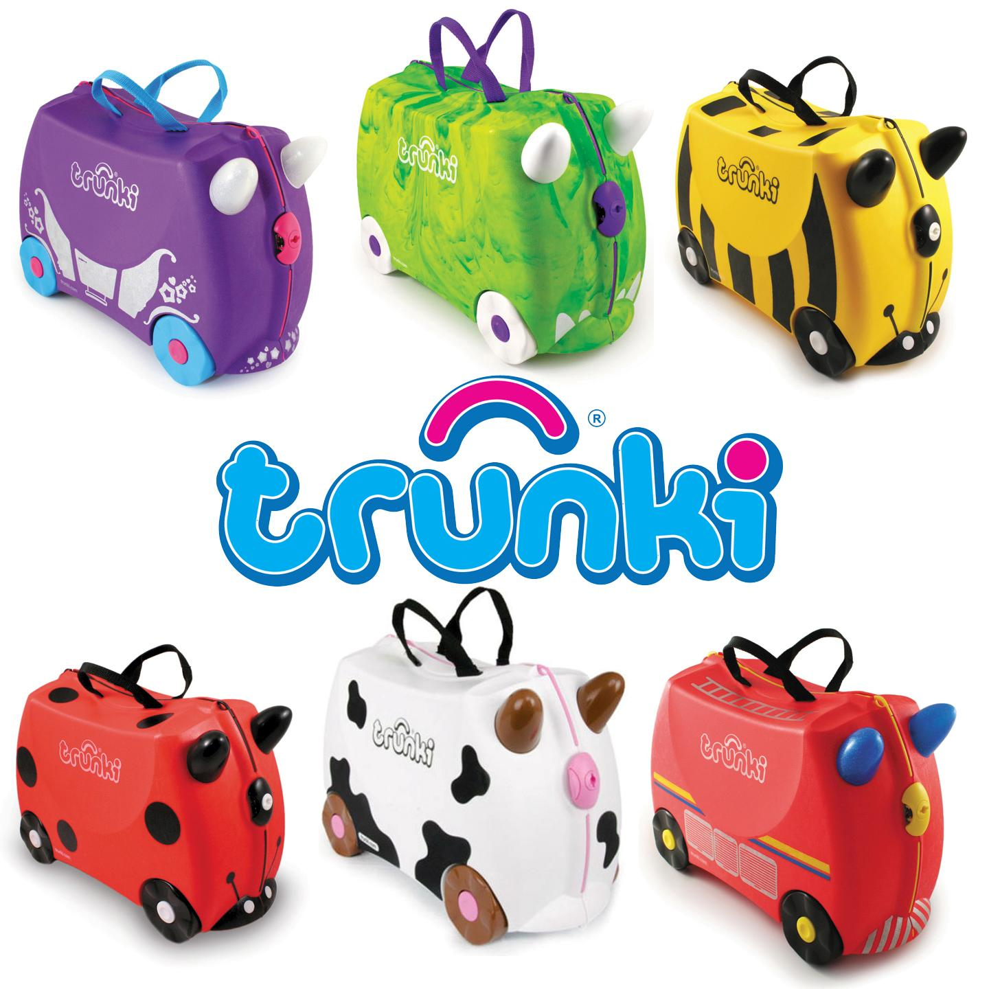 Trunki Ride-On Suitcase - Kids Pull Along Hand Luggage ...