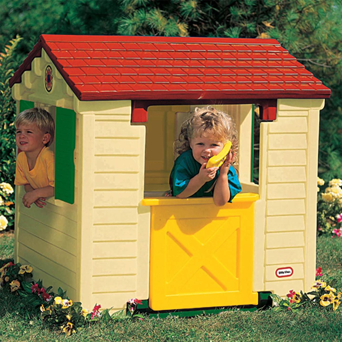 Little tikes playhouse new wendy house natural ebay for Little tikes house