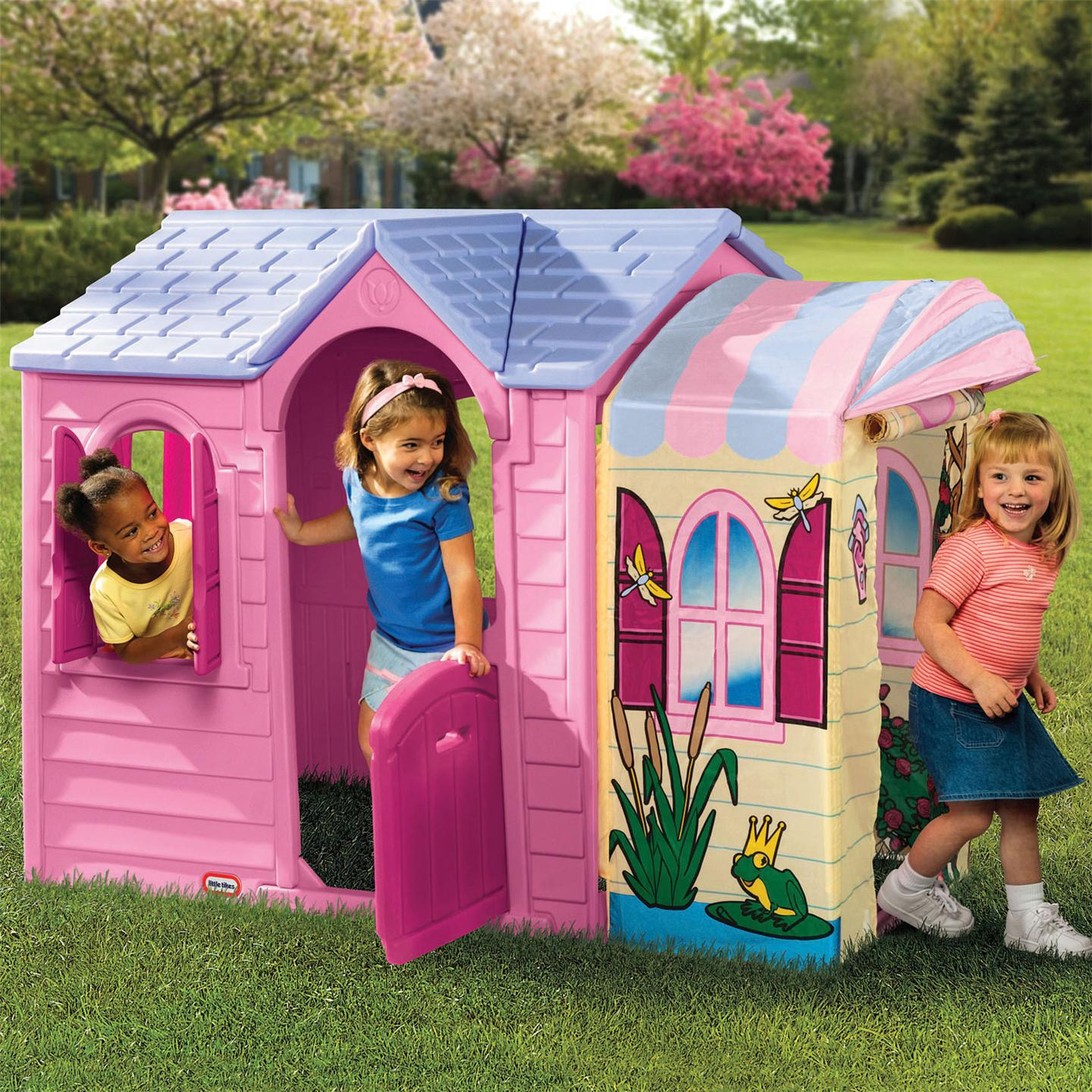 Little tikes princess garden playhouse new wendy house ebay for Piani di casa cottage storybook