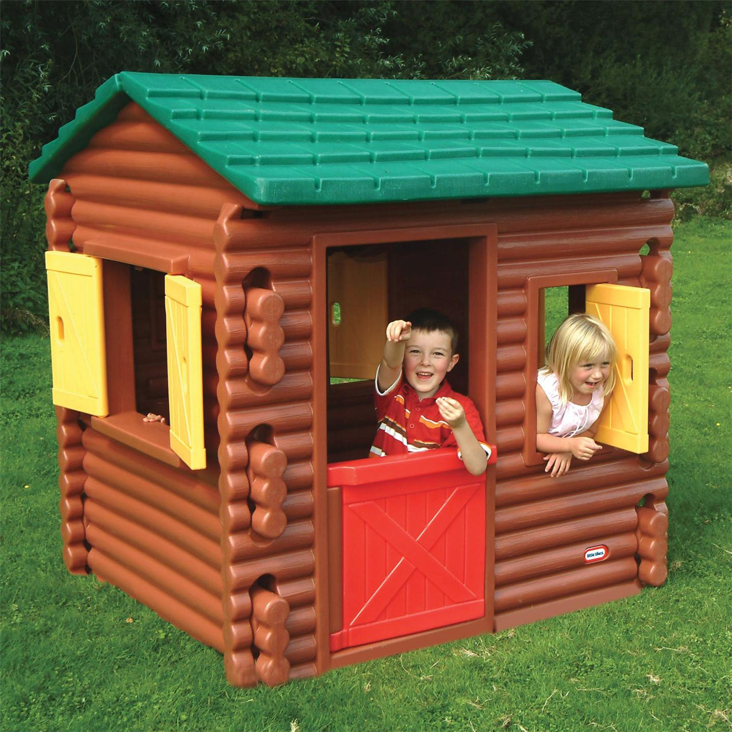 Little tikes log cabin playhouse new wendy house ebay for Casa de juguetes para jardin