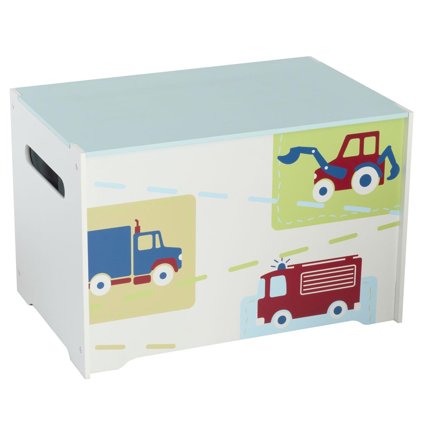 Toy Storage For Boys : Boys vehicles mdf toy box new boxed bedroom storage fire