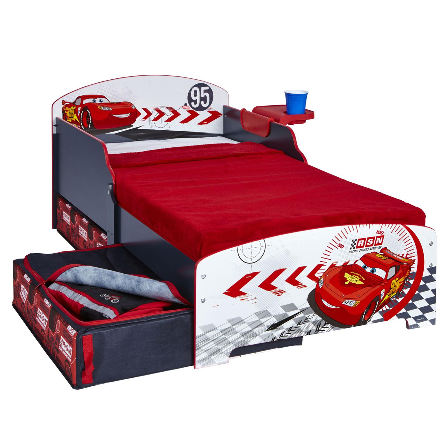 Disney Cars Toddler Bed With Shelf And Storage