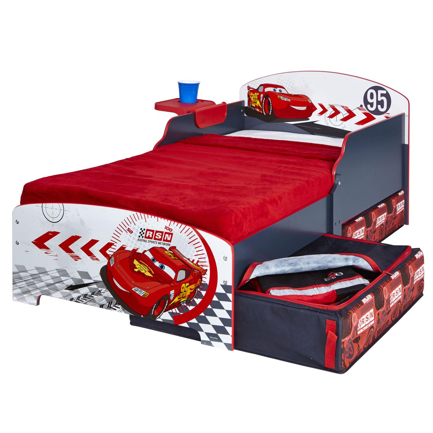 details about disney cars junior toddler bed storage shelf new
