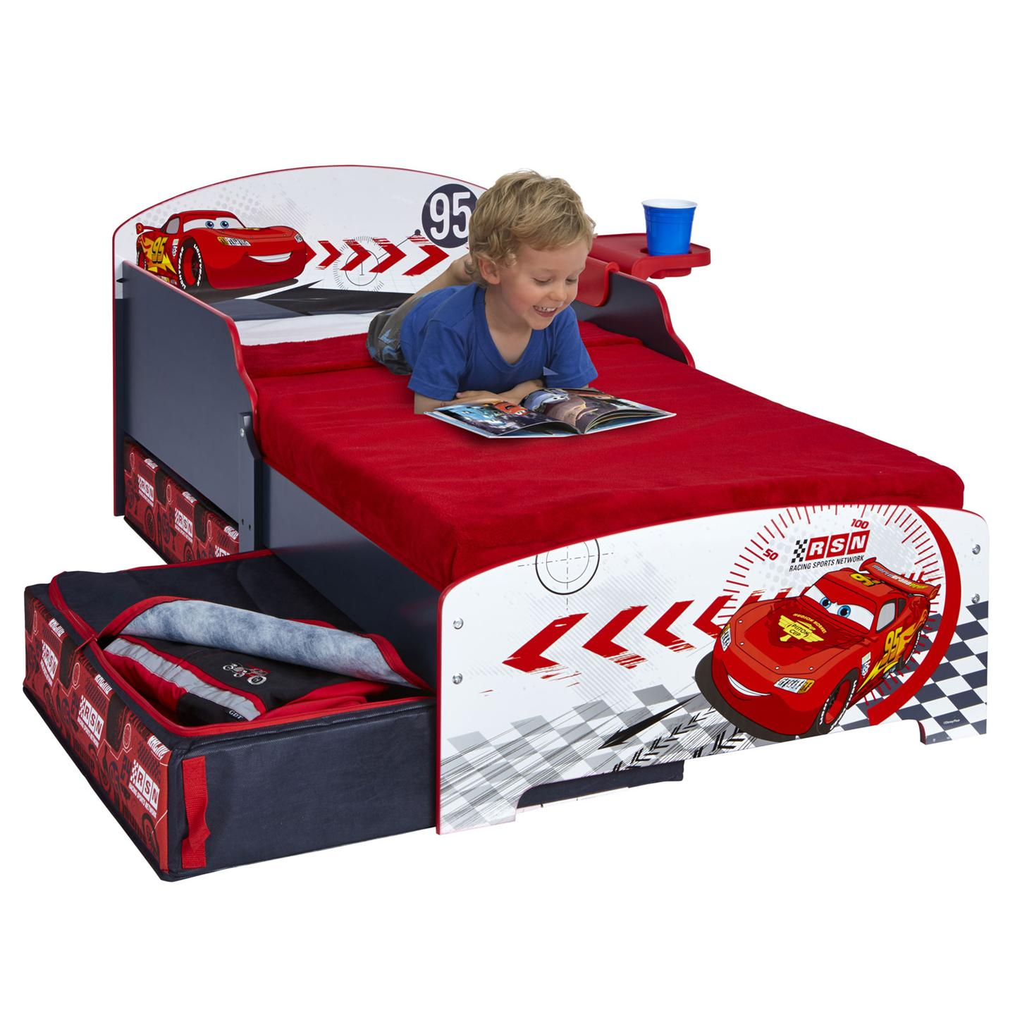 disney cars junior toddler bed storage shelf new boxed. Black Bedroom Furniture Sets. Home Design Ideas