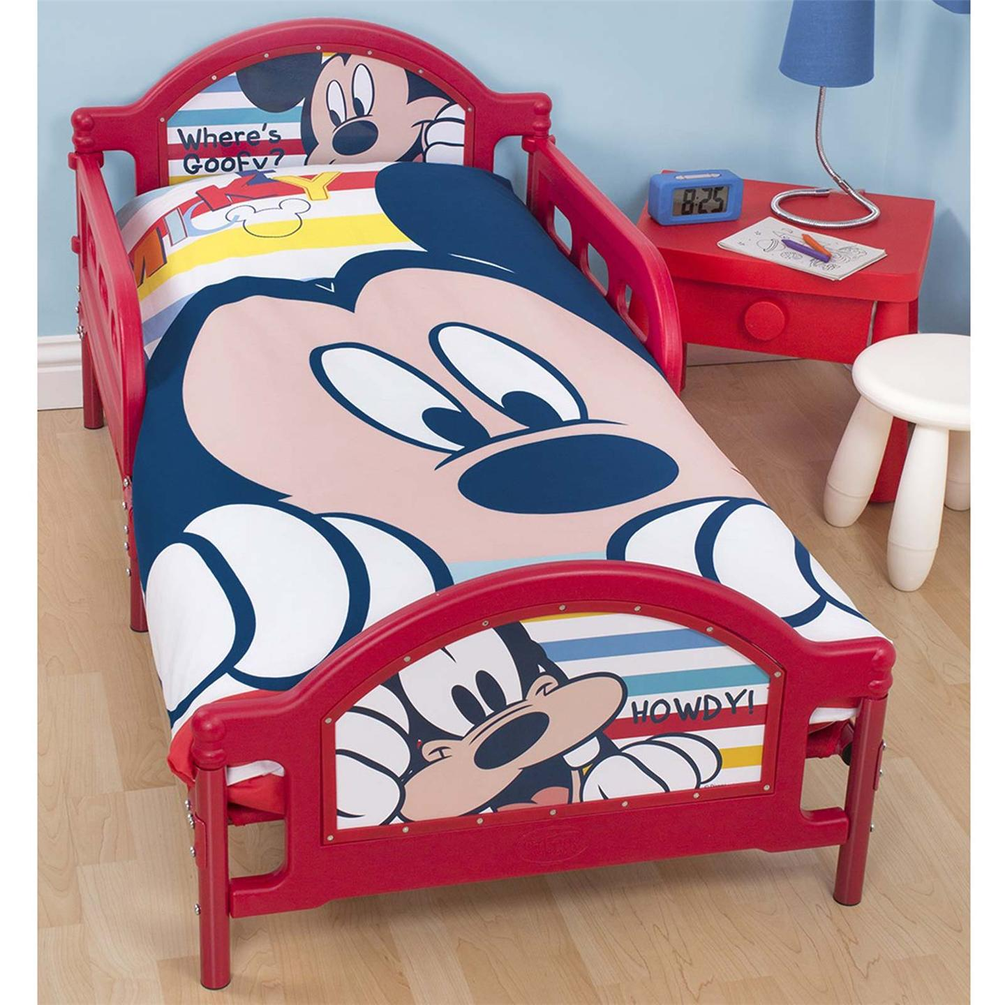 kinderbett bett micky maus play junior kleinkind kind neu ebay. Black Bedroom Furniture Sets. Home Design Ideas
