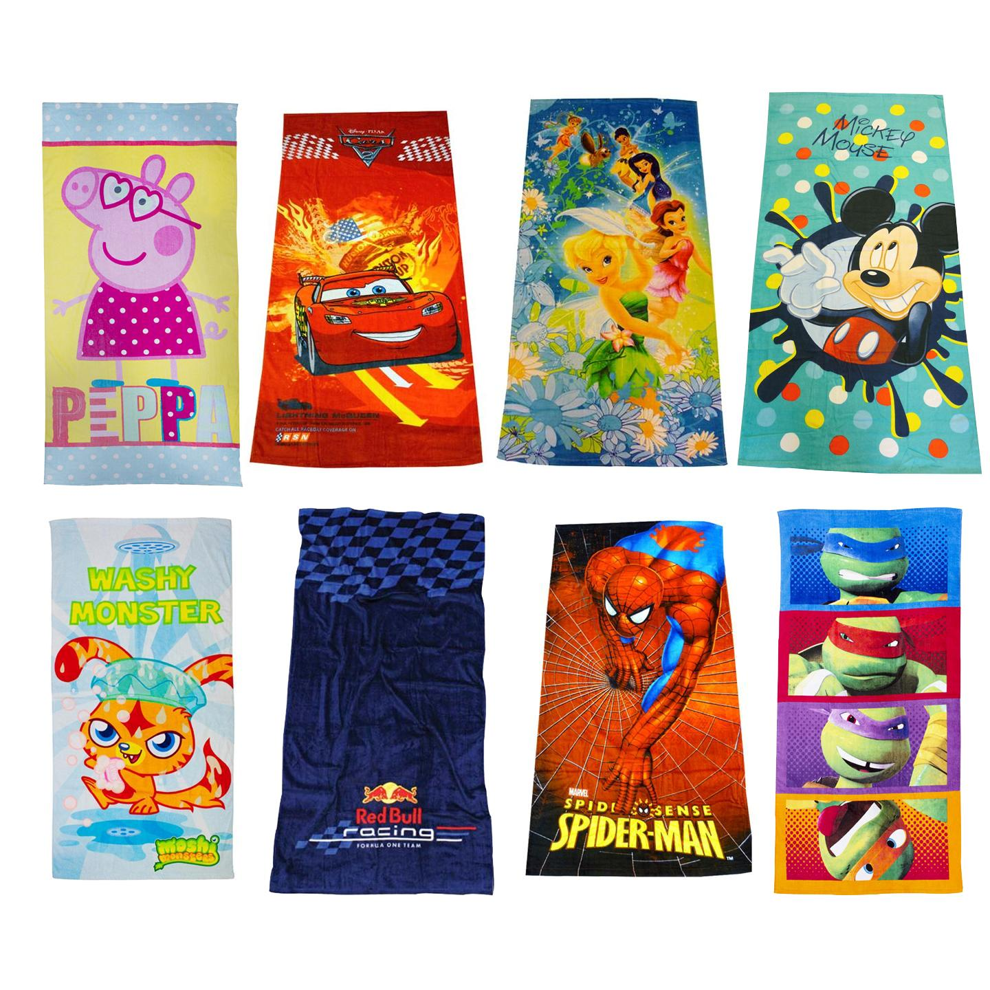 Kids Disney And Character Towels Childrens Large Beach