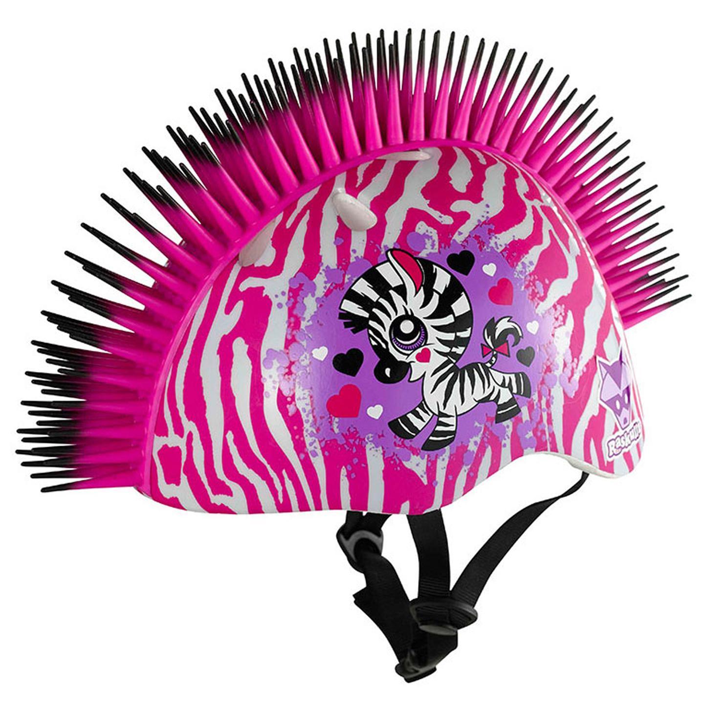 Details about RASKULLZ PINK ZEBRA MOHAWK SAFETY BIKE HELMET NEW    Pink Mohawk Helmet