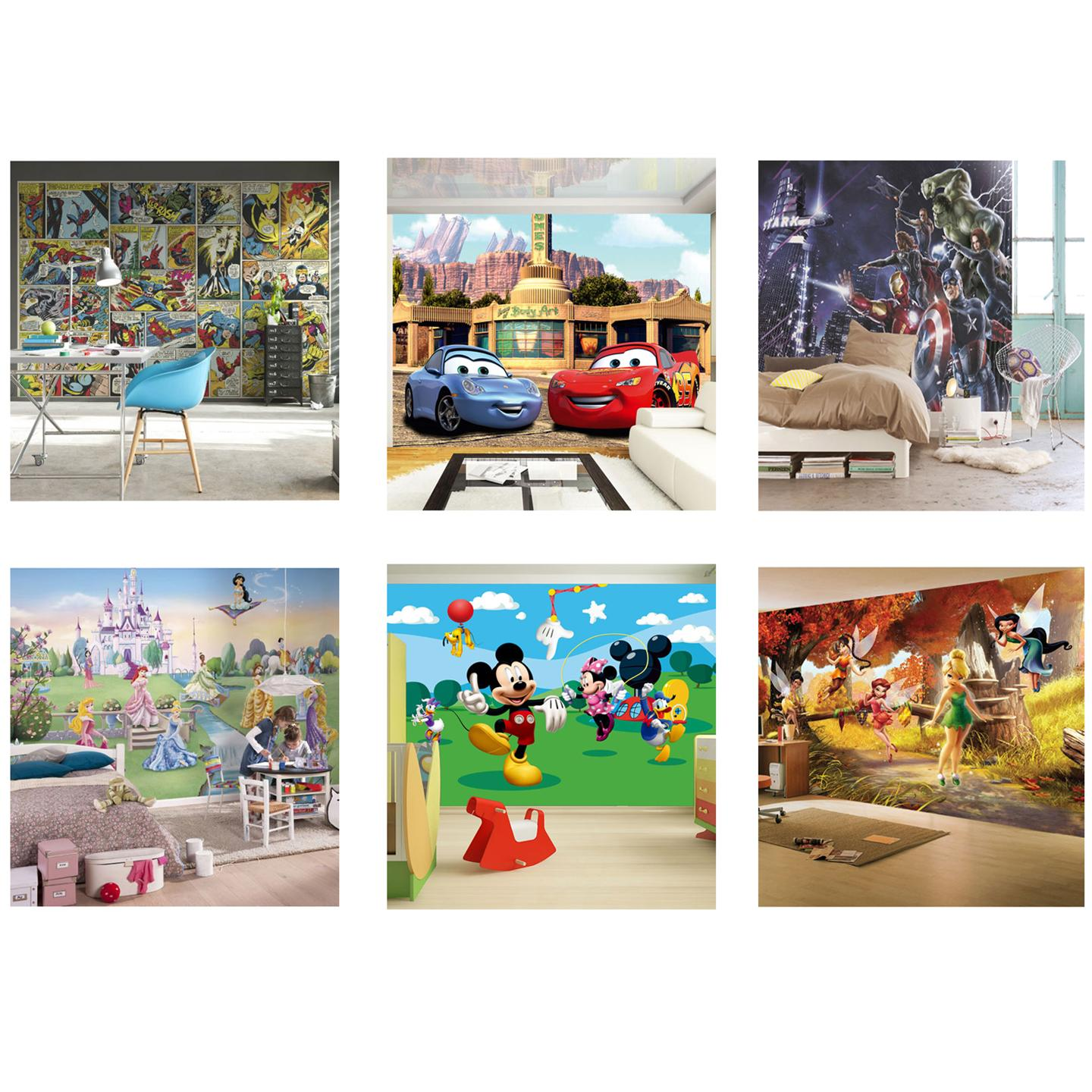 disney character large wall mural bedroom decor wallpaper new ebay