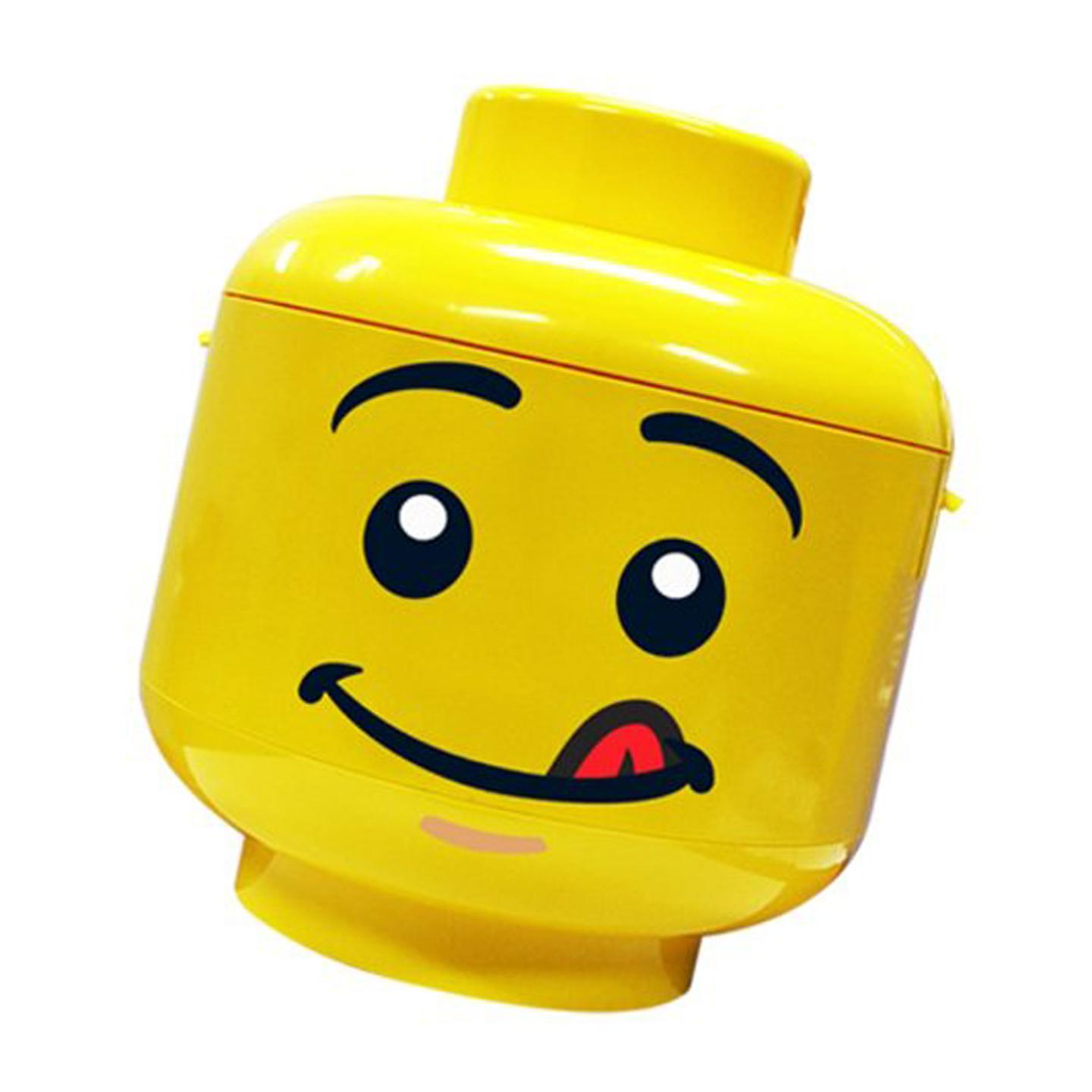 Lego 39 sort store 39 storage head cheeky x large new for Lego minifigure head template