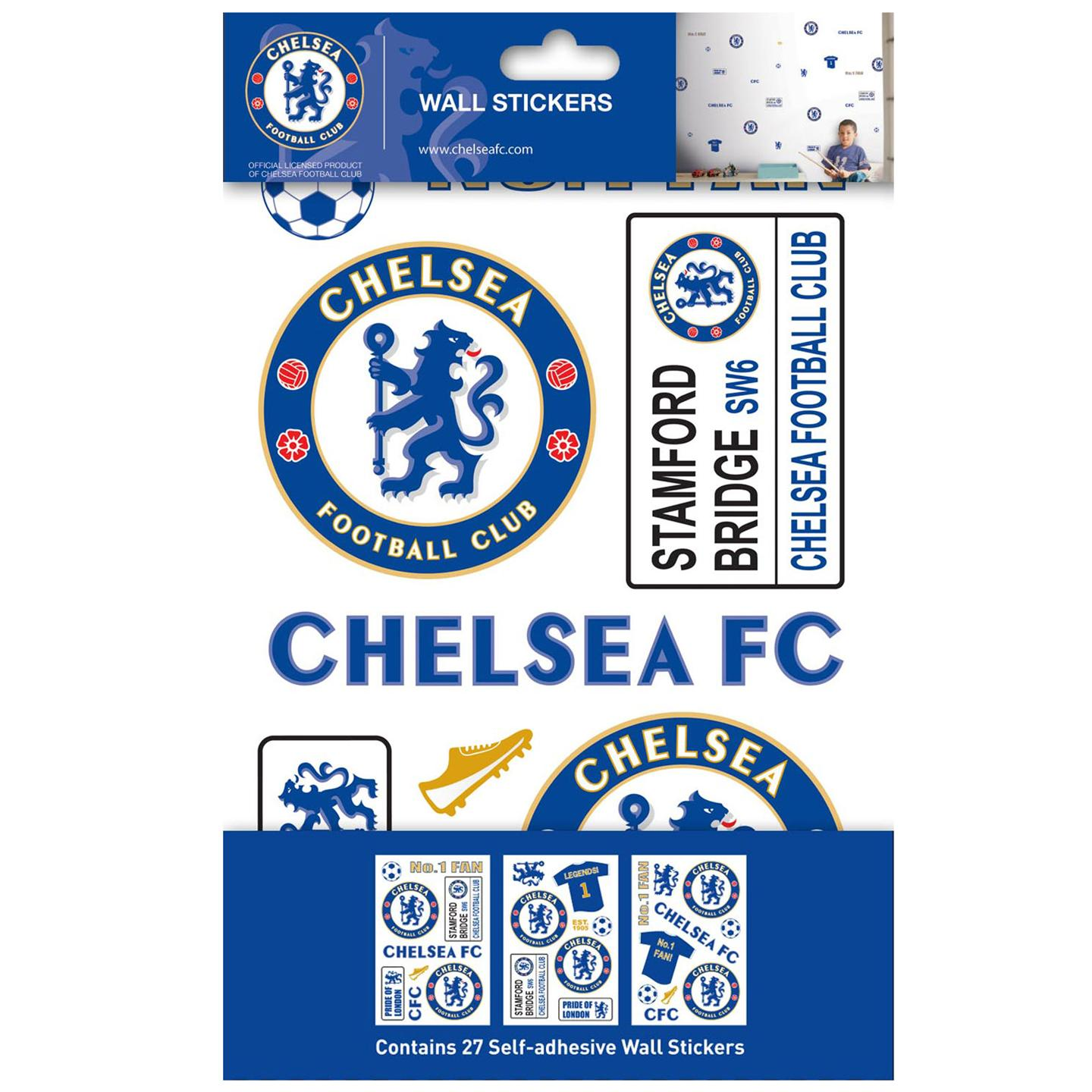 chelsea stikarounds wall stickers 27 pieces 100 official