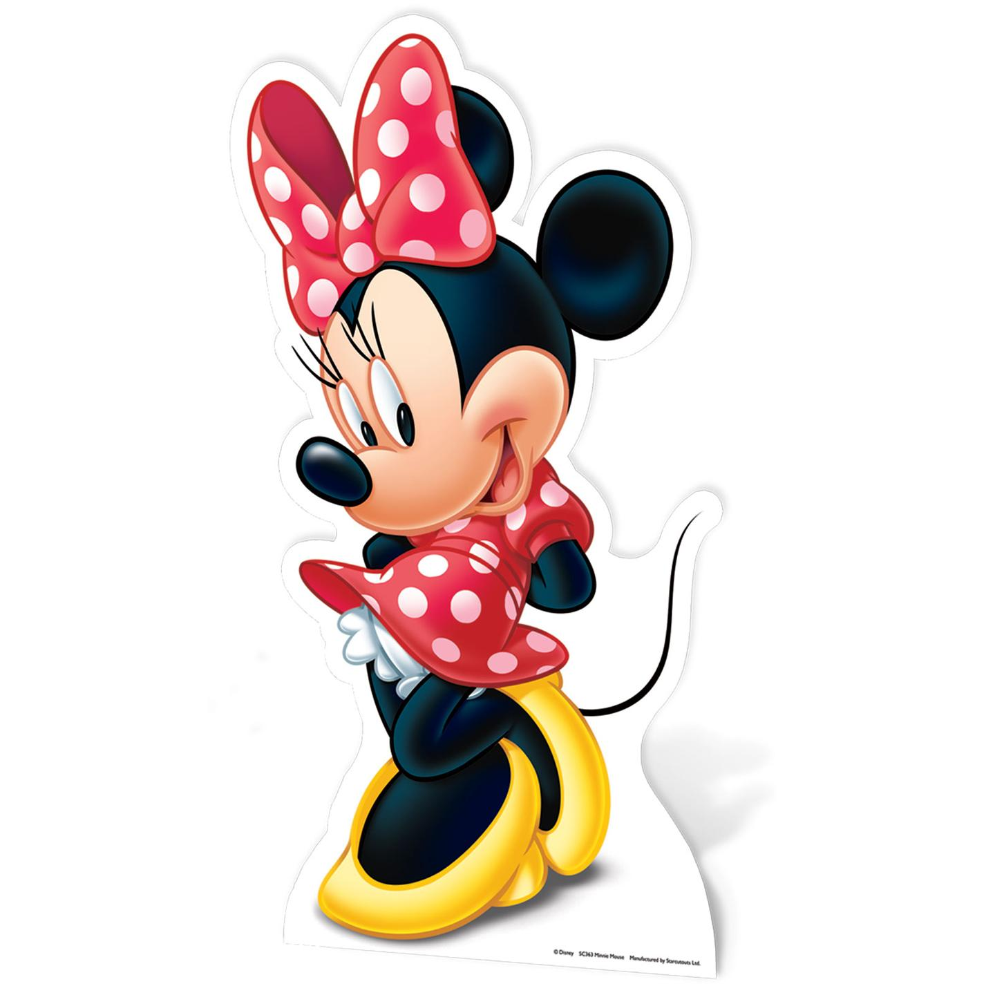 Minnie mouse large cardboard cut out new 100 official ebay - Coloriage minnie robe ...