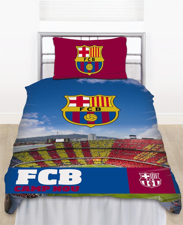 housse couette taie oreiller officiels club football lit 1 ou 2 places ebay. Black Bedroom Furniture Sets. Home Design Ideas