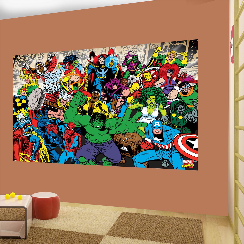 Marvel Wallpaper For Bedroom Large Wallpaper Decor Wall Murals Disney Football Kids