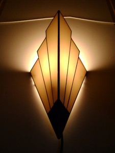 Wall Lamp Art Deco : Art Deco Sconces - retro vintage wall lights 1930 s style (Black & White) eBay