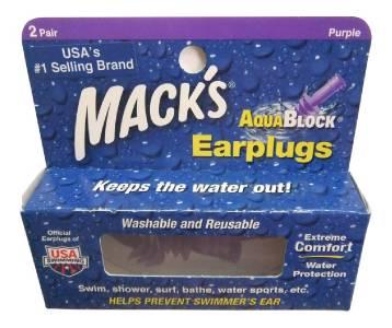Macks Ultra Soft AquaBlock Swimming Earplugs 2 Pairs