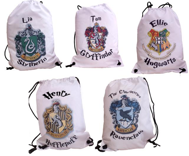 Harry potter personalised drawstring school gym swimming for Sac piscine personnalise