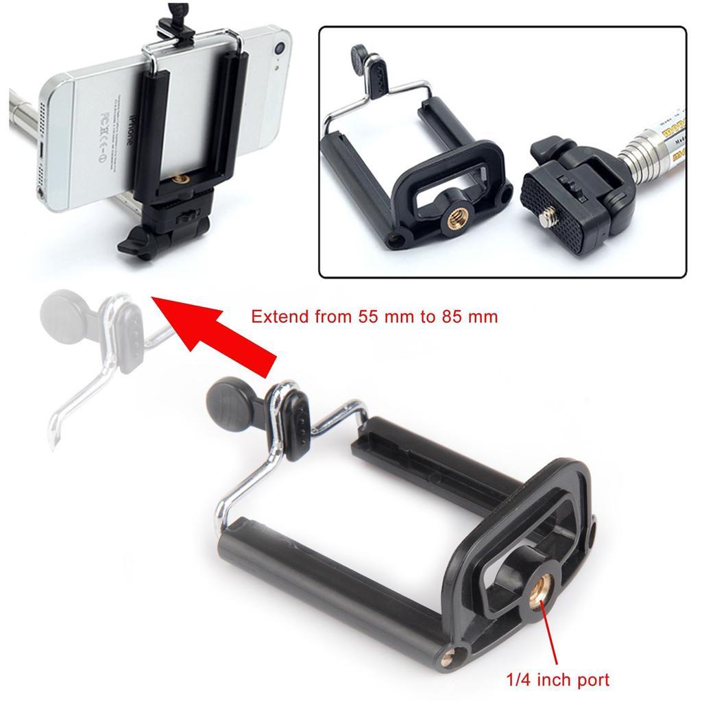 universal selfie stick tripod monopod mobile mount holder bracket camera adapter. Black Bedroom Furniture Sets. Home Design Ideas