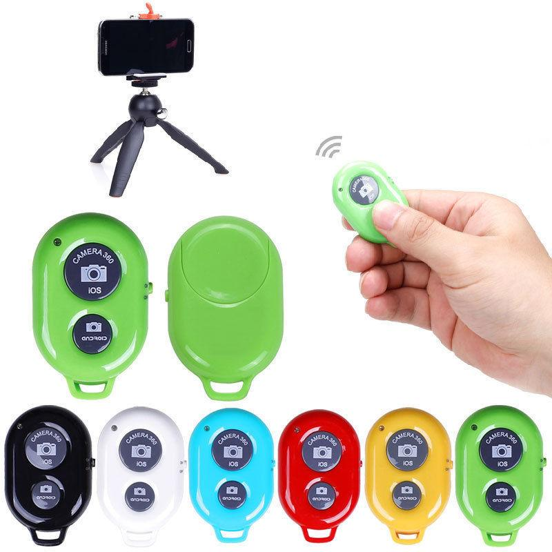 new bluetooth remote shutter button iphone samsung ios android for selfie stick ebay. Black Bedroom Furniture Sets. Home Design Ideas