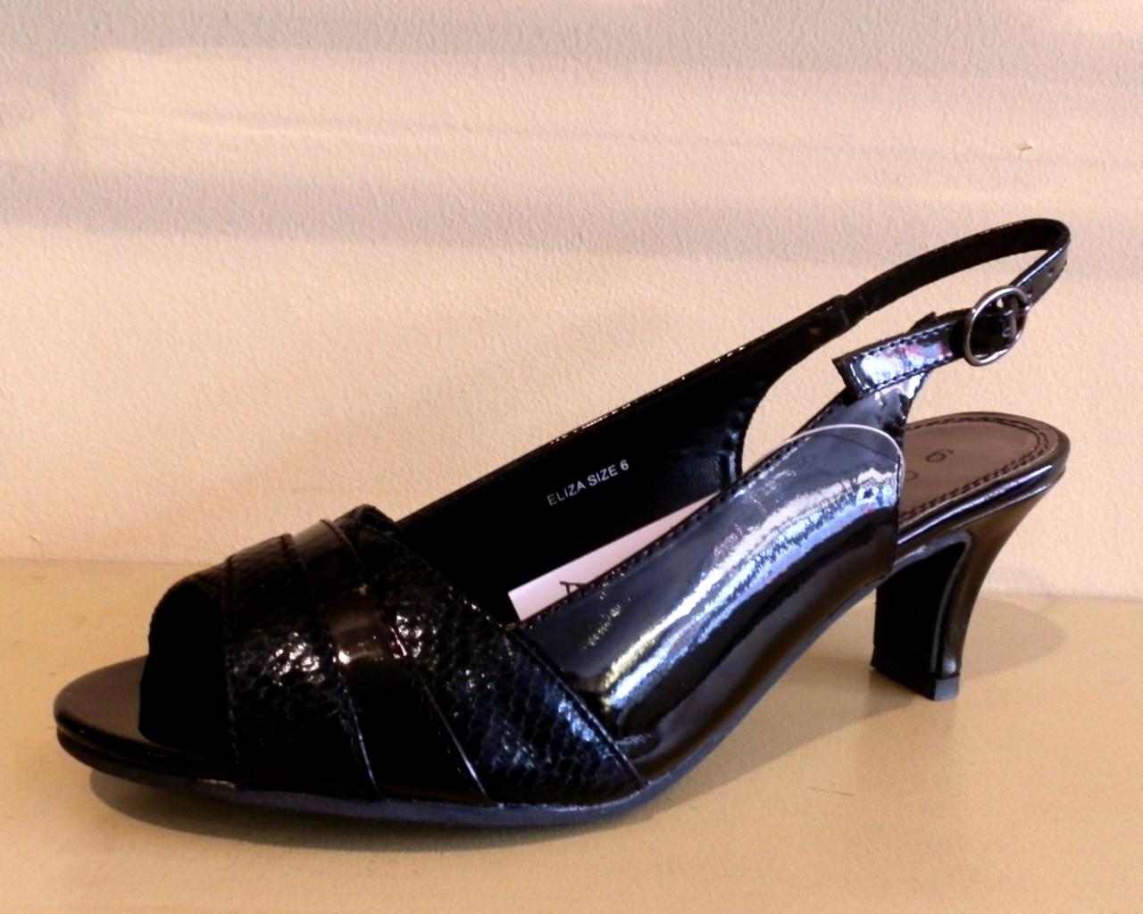 Black patent sandals uk - Womens Ladies Black Patent Comfort Plus Wide Fit