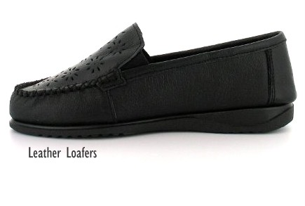 LADIES-WOMENS-BLACK-EVER-SO-SOFT-LEATHER-CASAUL-WORK-FLAT-LOAFERS-ALL-SIZES