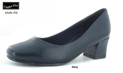 Womens Navy Blue Velvet Ladies Platform Stiletto Court Shoes