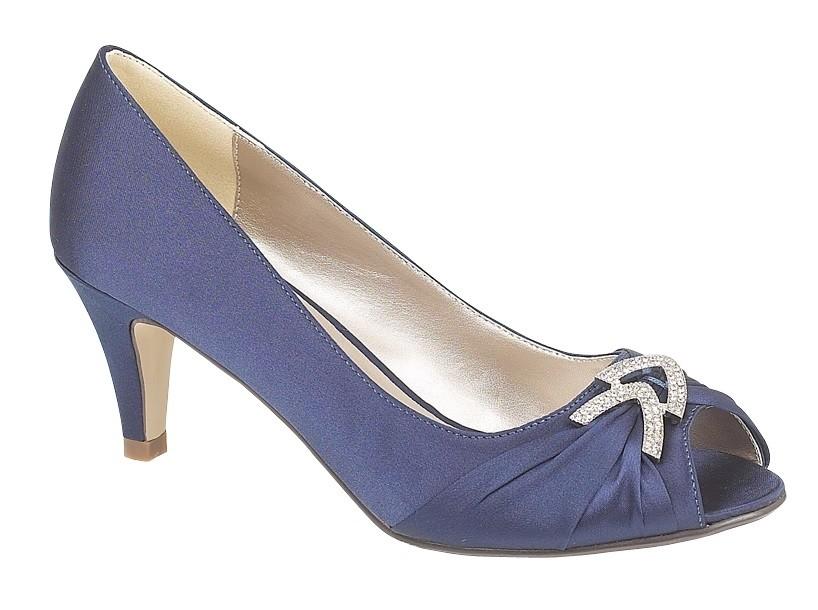 Navy Blue Low Heel Wedding Shoes
