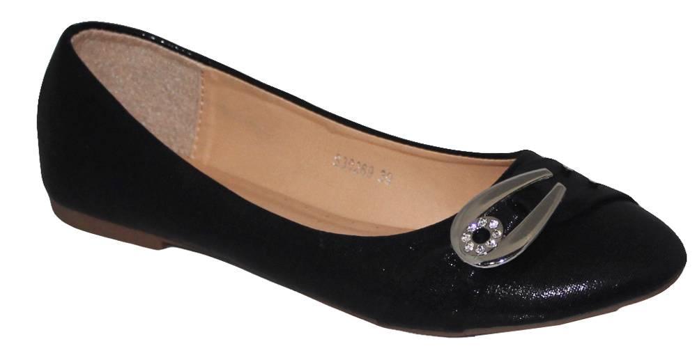 LADIES BLACK SILVER GOLD SPARKLY GLITTER FLAT PUMPS BALLERINA EVENING SHOES 3-8 | EBay