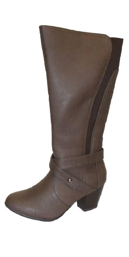 womens comfort plus wide fit knee calf boots black