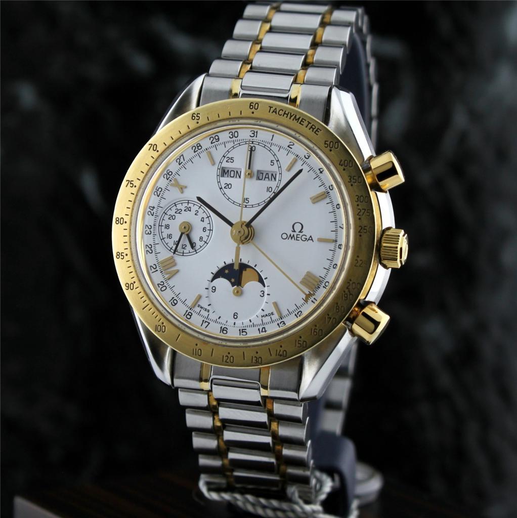 Fs omega speedmaster 18k ss chrono triple calendar for Maison omega