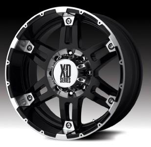17 inch KMC XD Spy black wheels rims 5x135 Ford F150