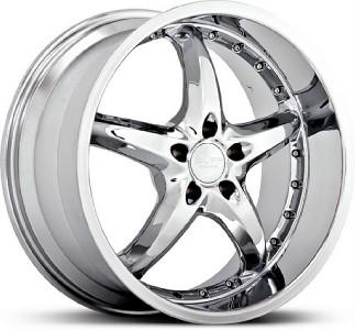 20 inch Ruff Racing 280 Chrome Wheels Rims 5x112 45