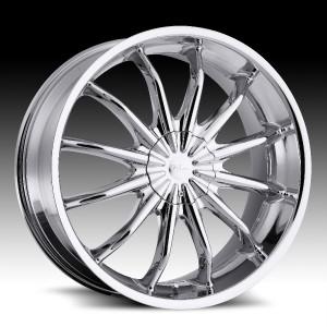 22 in Milanni Baron Chrome Wheels Rims 5x4 25 5x108 40