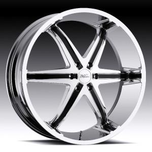 26 inch Milanni Kool Whip Chrome Wheels Rims 5x5 5x127