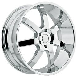 22 Inch Menzari Z09 Chrome Wheels Rim 6x135 +35 / Ford F150 Expedition