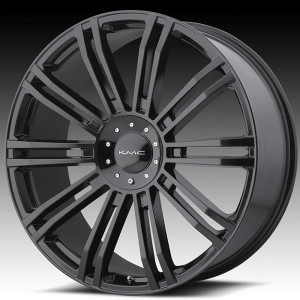 22 inch KMC Black Wheels Rims 6x135 Ford F150 Expedition Navigator