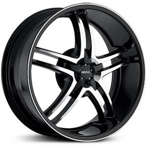 20 inch Staggered Boss 340 Black Trim Wheel Rim 5x4 5 Legend MDX
