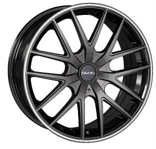 18 inch Touren TR60 Black Wheels Rims 5x115 de Ville DTX El Dorado