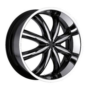 22 inch Voodoo 415 Black Wheel Rim 6x132 GMC Arcadia Chevrolet