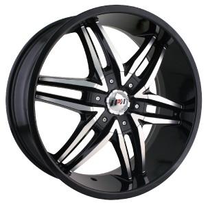 24 inch MPW MP208 Black Wheels Rims 5x5 5 Dodge RAM 1500 Ford Bronco